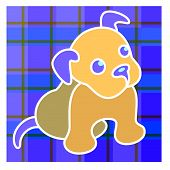 Puppy On Plaid