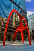 Sculpture Flamingo in Chicago.