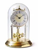 Altmodische Gold Uhr, Isolated On White