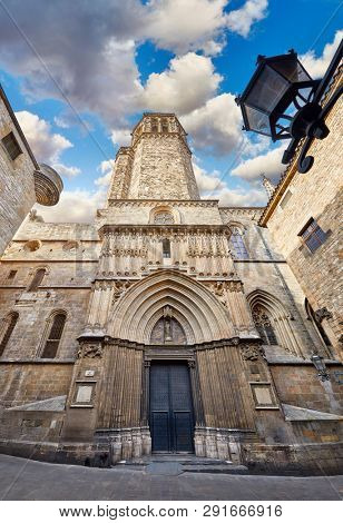 Gothic cathedral in Barcelona Catalonia