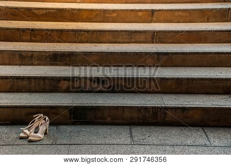 Cement Stairs Connected To The