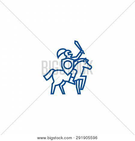 Knight Line Icon Concept Knight