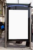 pic of bus-shelter  - An image of a bus stop with a blank bilboard for your advertising situated in the Turkish city of Istanbul - JPG