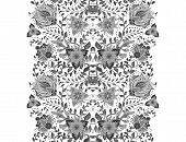 Flower Borders With Fantastic Flowers. Vintage Flowers Backgrounds And Borders. Floral Wallpaper. De poster