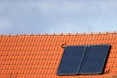 Solar Cells On A Roof