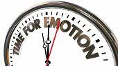 Time for Emotion Feelings Expression Clock Words 3d Illustration poster