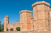 The towers at Poblet Monastery, Tarragona Provincec, Spain
