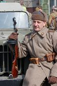 picture of vinnitsa  - Person in Soviet WW2 uniform - JPG