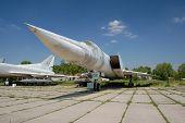 TU-22.Exhibit of museum of aviation . Kiev,Ukraine (Malorussia)