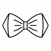 Elegant Bow Tie Icon. Outline Elegant Bow Tie Icon For Web Design Isolated On White Background poster
