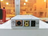 Electronic White Box Converter Video To Pc, Media Converter Module Used In Industry Background poster