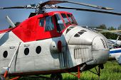 HDR.The Russian military-transport helicopter Mi-4