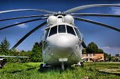 HDR.The Russian military-transport helicopter Mi-26