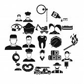 Occupational Icons Set. Simple Set Of 25 Occupational Icons For Web Isolated On White Background poster