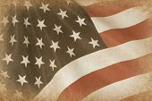 picture of waving american flag  - American Flag grange - JPG