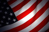 stock photo of waving american flag  - American Flag - JPG