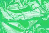 Green Polyethylene Texture. Background Exhaust Cellophane Package. poster