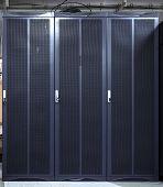 Server Rack With Three Blue Servers. Server Farm, Data Center. Concept Gdpr, Rgpd, Dsgvo Concept Ill poster