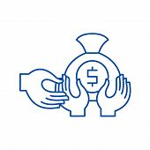 Financial Fraud Line Icon Concept. Financial Fraud Flat  Vector Symbol, Sign, Outline Illustration. poster