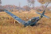 KIEV, UKRAINE -NOV 6: German military airplane Bf-109 (replica) during historical reenactment of 194