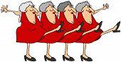 Old woman chorus line