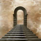 pic of stairway to heaven  - Staircase leading to heaven or hell - JPG