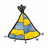pic of teepee  - cartoon teepee tent - JPG