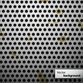 Grunge metal speaker grill seamless pattern