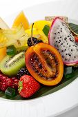 foto of muskmelon  - Exotic Fruit Dish with Mint Jelly - JPG
