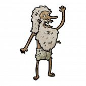 cartoon castaway man