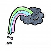 rainbow raincloud cartoon character