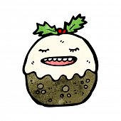 cartoon christmas pudding character