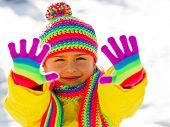 Winter, snow, fun - kid winter playing
