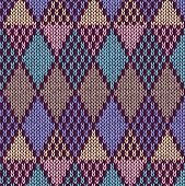 Style Seamless Knitted Pattern.blue Pink Yellow Color Illustration From My Large Collection Of Sampl