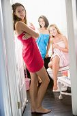Girlfriends In Bathroom