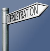 frustration frustrated and desparation lead to stress and pressure negative feelings fear for failure and confusion