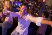foto of hair integrations  - Young man in a bar - JPG