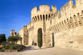 stock photo of avignon  - Avignon Medieval City Wall  - JPG