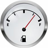stock photo of fuel efficiency  - Fuel indicator - JPG