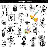 Doodle conjunto - circo