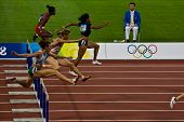 Womens 110M Olympic Hurdle Race