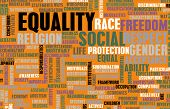stock photo of gender  - Social Equality Respect for Every Race and Gender - JPG