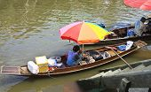 Seller In Rowboat at Amphawa