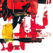image of acrylic painting  - abstract acrylic painting - JPG