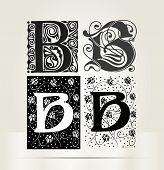 Vector ornamental letter T sign alphabet and logo