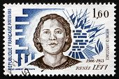 Postage Stamp France 1983 Shows Rene Levy, Resistance Heroine