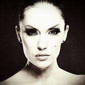 Adult Pretty Woman Fashion Portrait.