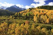 image of mear  - Mount Sneffels Range with fall color - JPG