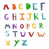 retro cartoon alphabet