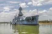 stock photo of battleship  - The Famous historic Dreadnought Battleship in Texas - JPG